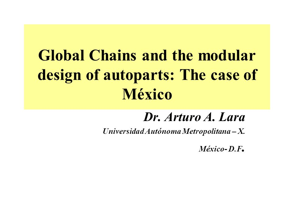 This analysis focuses on the production plant network of Lear Corporation in Mexico, and its aim is to describe and analyze the technological up-grading process, as well as the strategy of intra-company coordination and cooperation (in the North American market) developed by Lear within the framework of modular production.