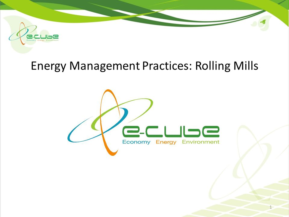 Energy Management Practices: Rolling Mills 1