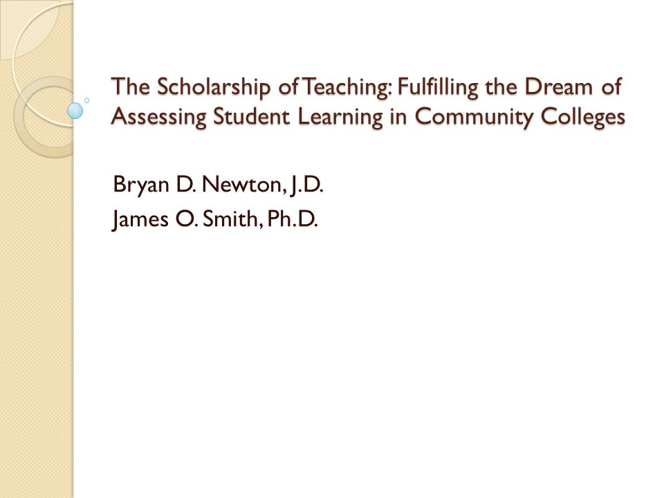 Scholarship of Teaching Expand the definition of research to include studying our teaching effectiveness.