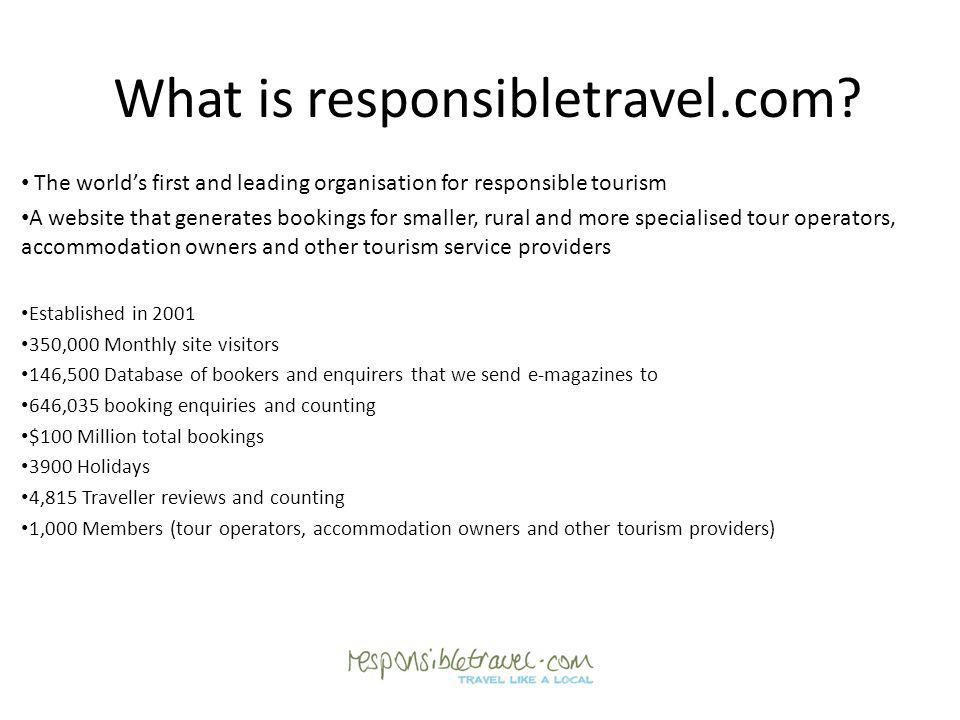 What is responsibletravel.com.