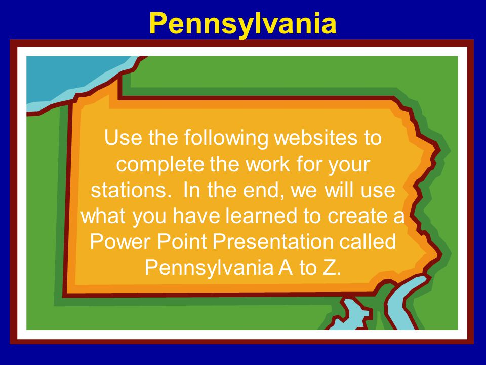 Use the following websites to complete the work for your stations. In the end, we will use what you have learned to create a Power Point Presentation