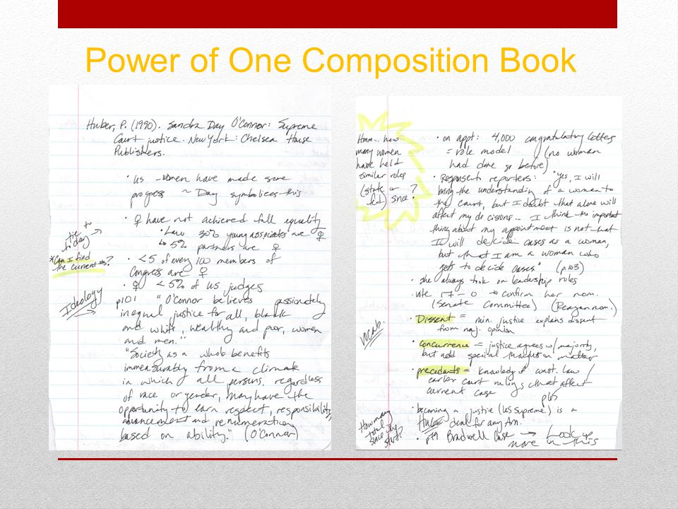 Power of One Composition Book