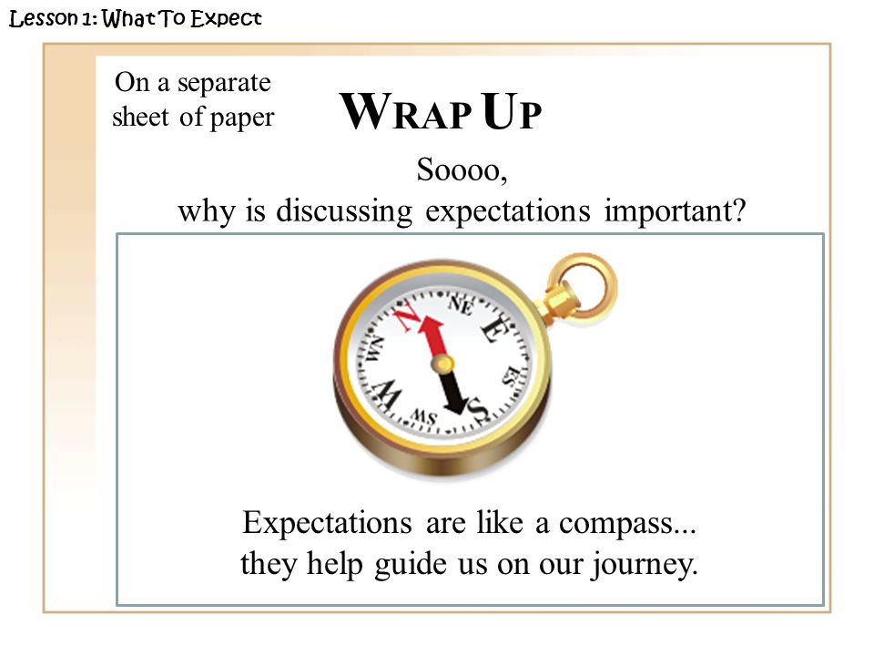 Soooo, why is discussing expectations important.