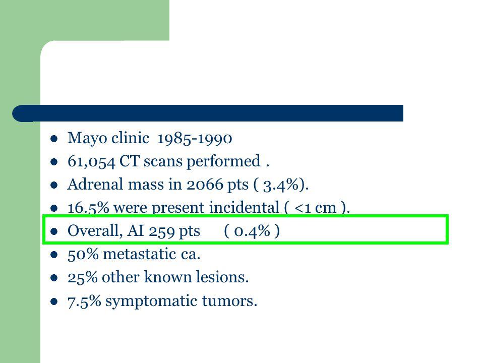 Adrenal adenoma hypodense Abdominal CT showing a 1.5-cm round hypodense left adrenal cortical adenoma (arrow).