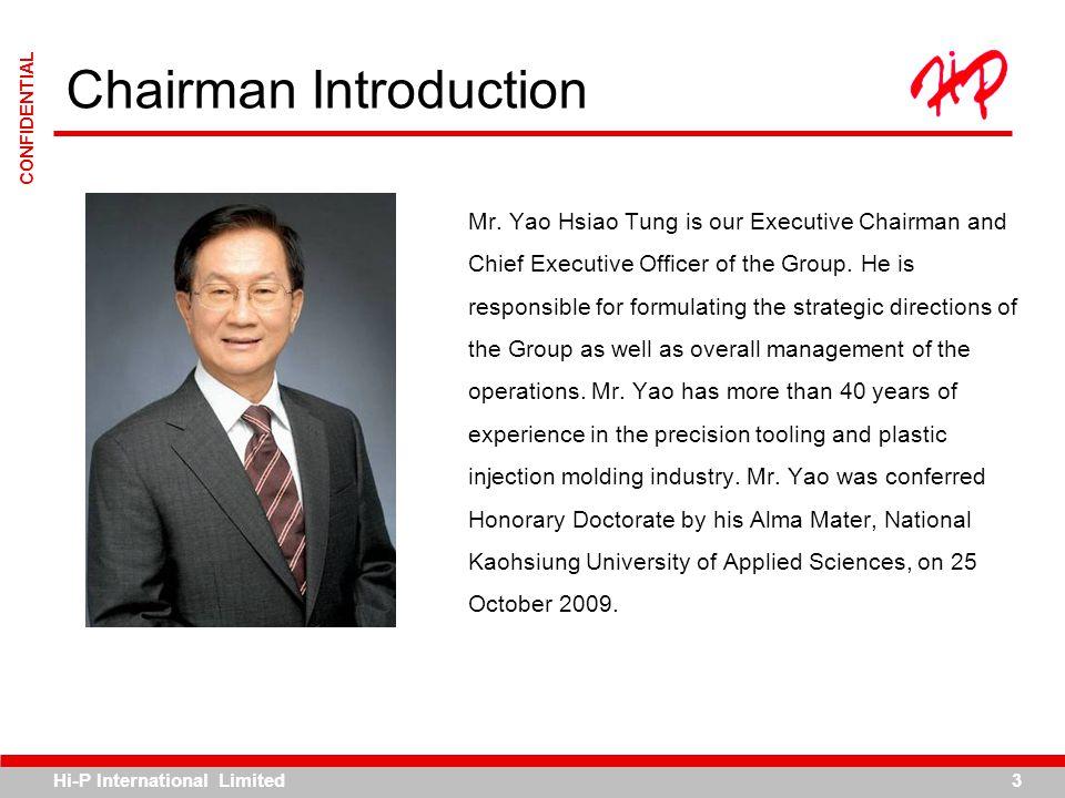 Hi-P International Limited4 CONFIDENTIAL History & Milestones Mr.