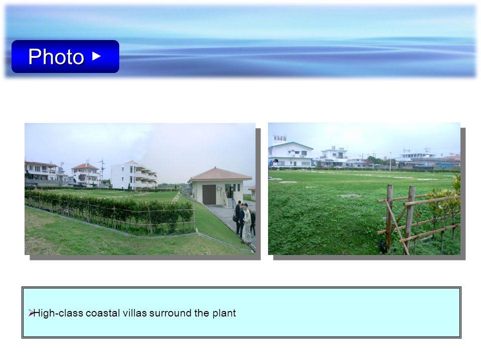 Photo Photo High-class coastal villas surround the plant