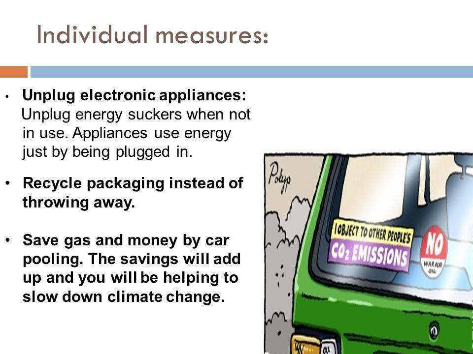 Individual measures...