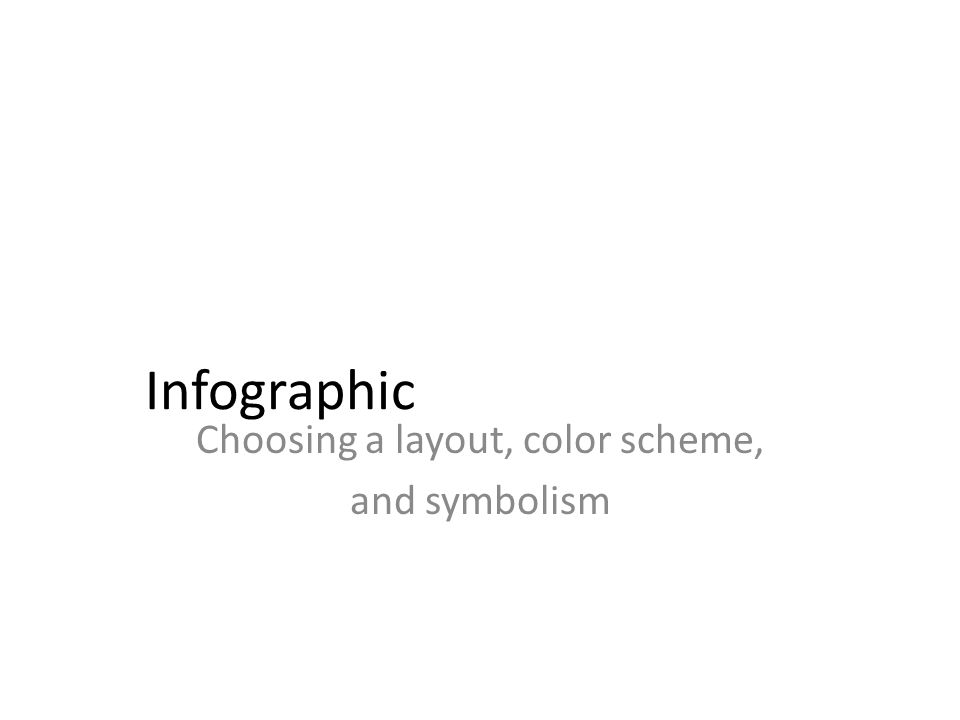 Infographic Choosing a layout, color scheme, and symbolism