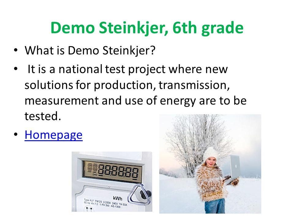 Demo Steinkjer, 6th grade What is Demo Steinkjer.