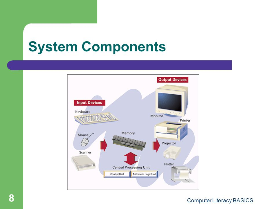 Computer Literacy BASICS 8 System Components