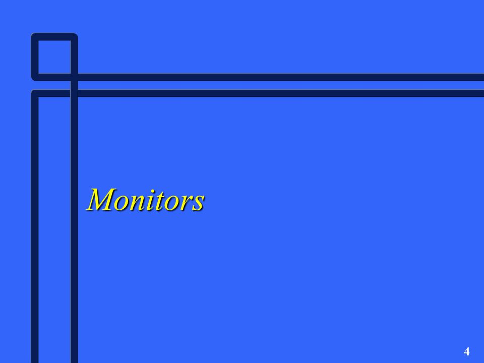 5 Monitors n Monitors are peripheral devices that contain viewing, or display, screens.