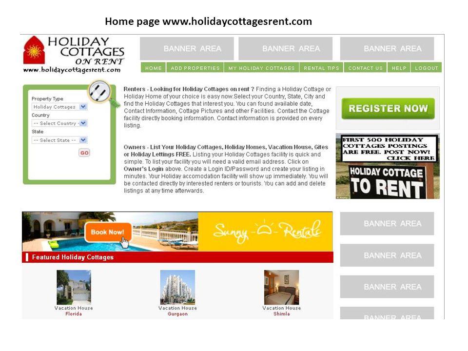 Home page www.holidaycottagesrent.com
