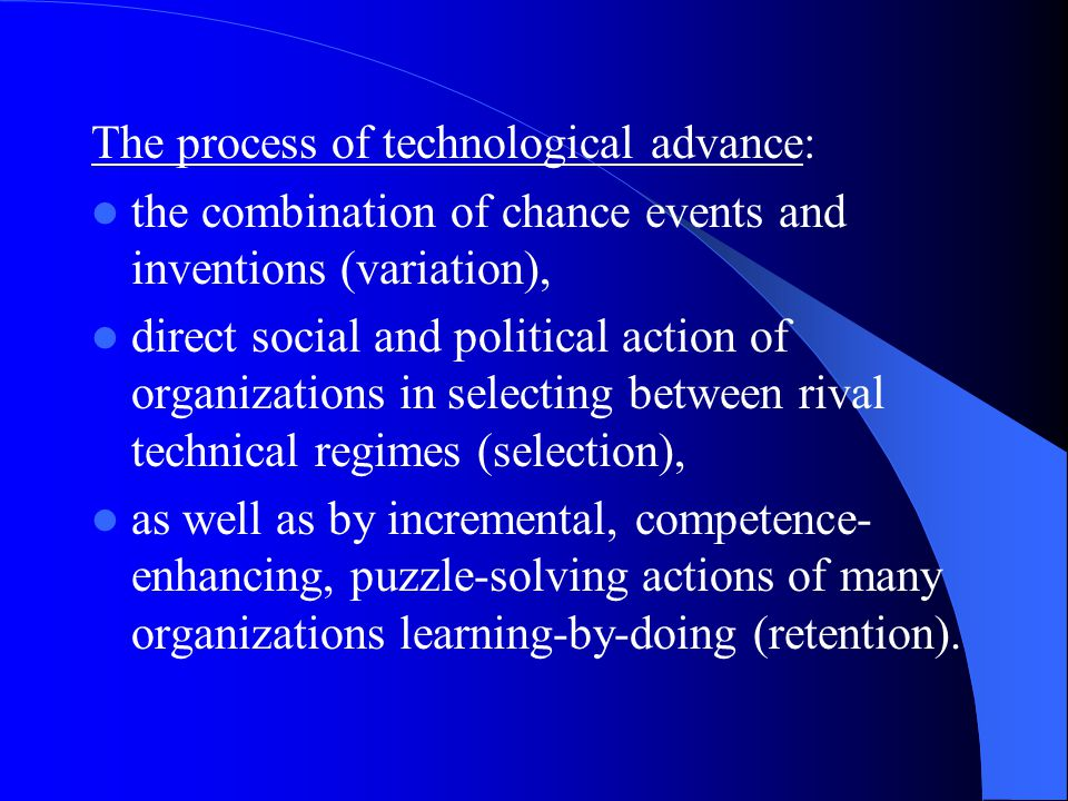 Some possible technology strategies: (source: Chiesa, Giglioli and Manzini, 1999) Competence deepening Competence fertilizing Competence complementing Competence refreshing Competence destroying