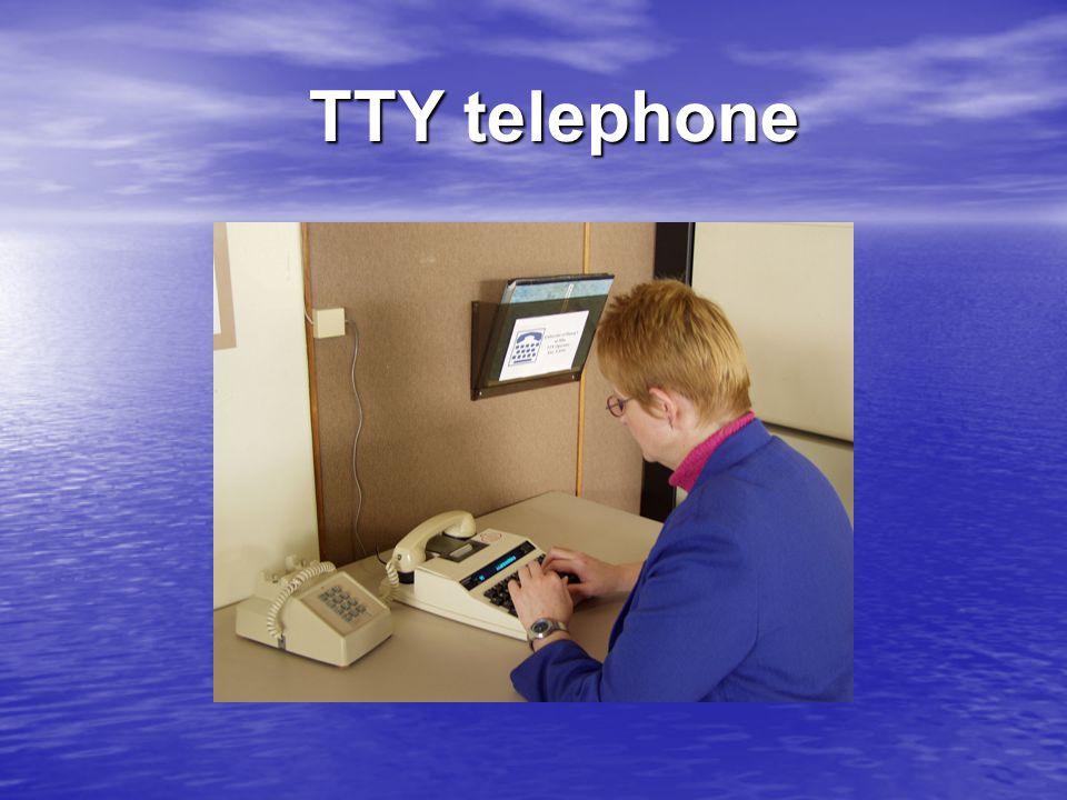 TTY telephone TTY telephone