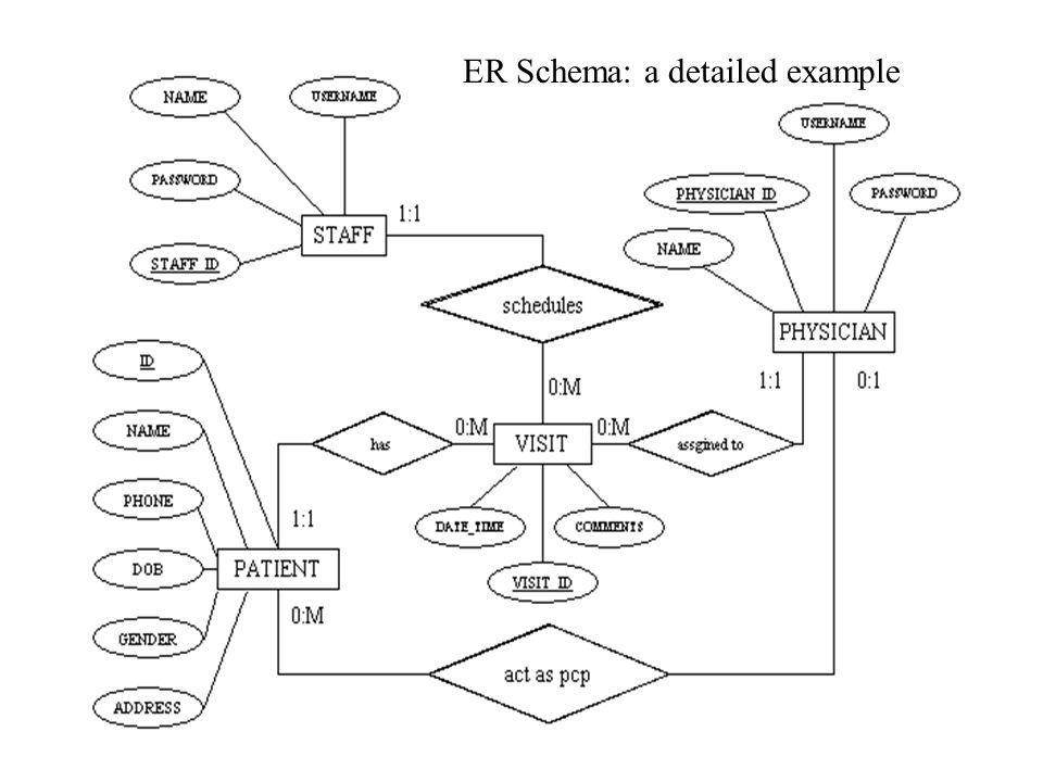 ER Schema: a detailed example