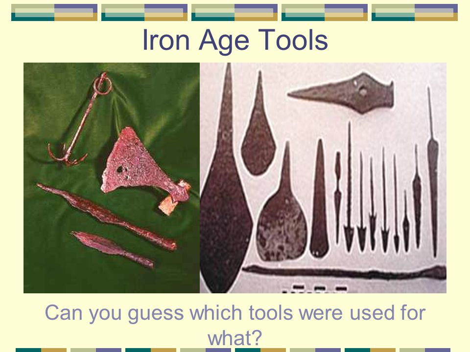 The Iron Age The Iron Age involved the adoption of iron smelting technology. It generally replaced bronze, and made it possible to produce tools which