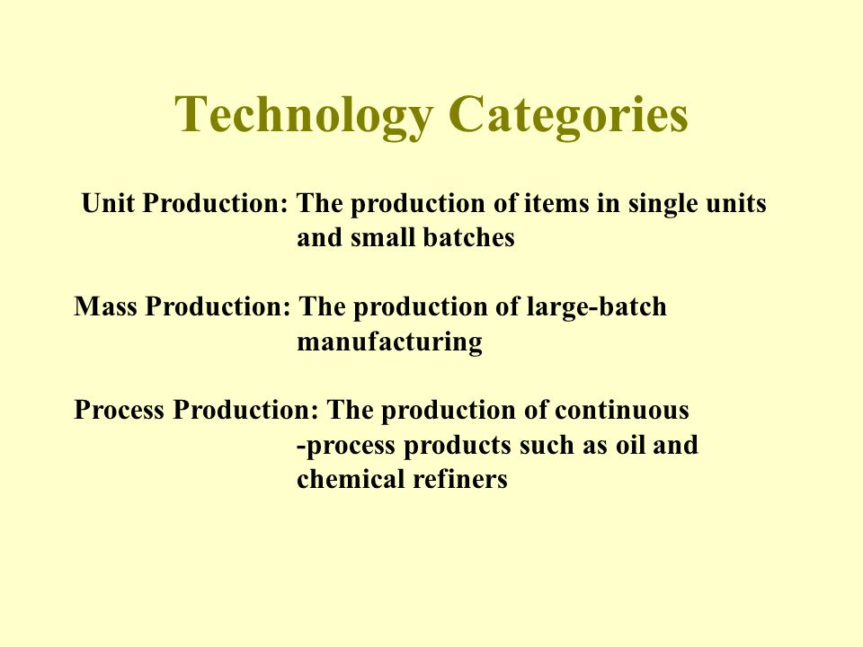 PERROW - CONCLUSIONS 1.Departments do differ from one another and can be categorized by their workflow technology.