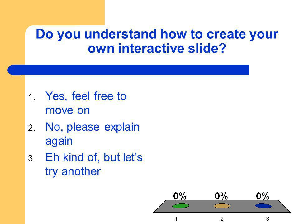 Do you understand how to create your own interactive slide.