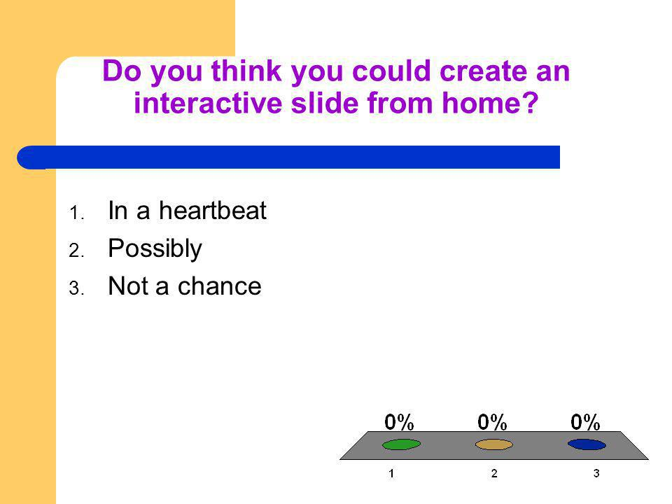 Do you think you could create an interactive slide from home.