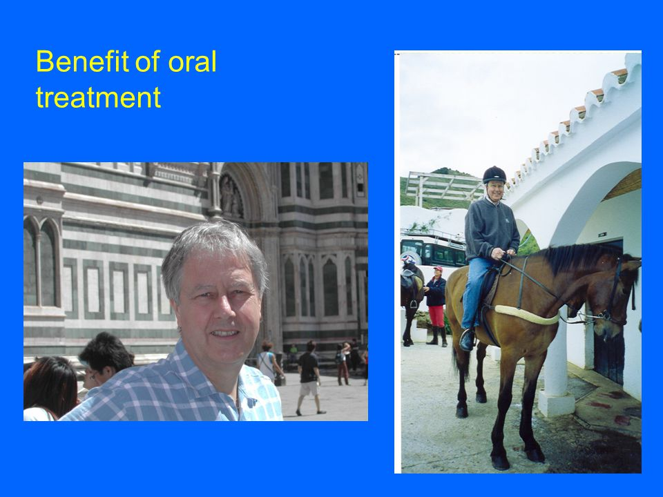 Benefit of oral treatment