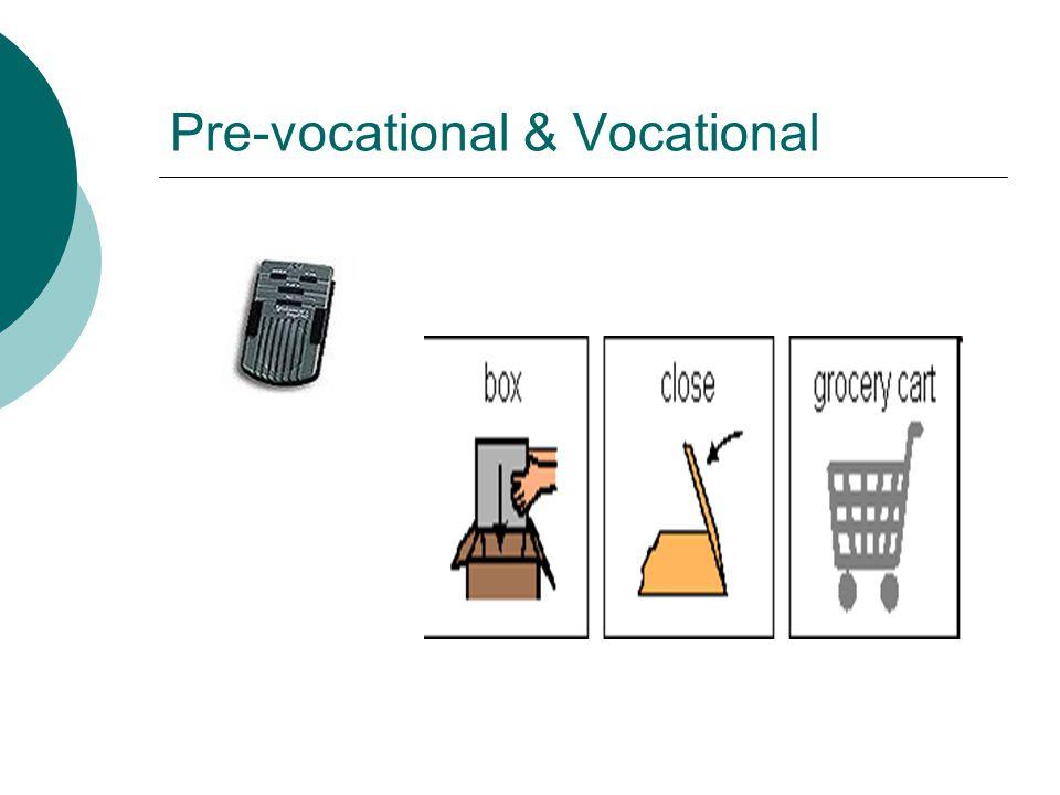 Pre-vocational & Vocational