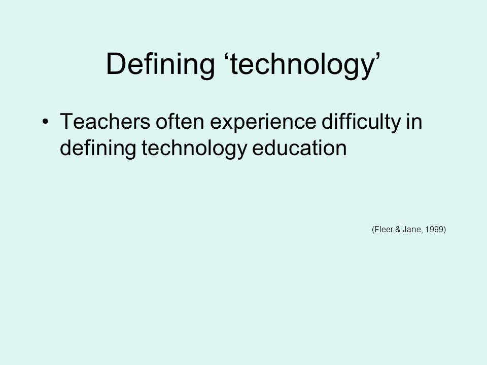 Noticing, recognising and responding to technology work In order to support childrens technology work effectively, adults must have an understanding about it.
