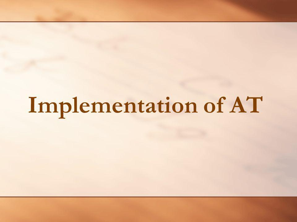 Implementation of AT