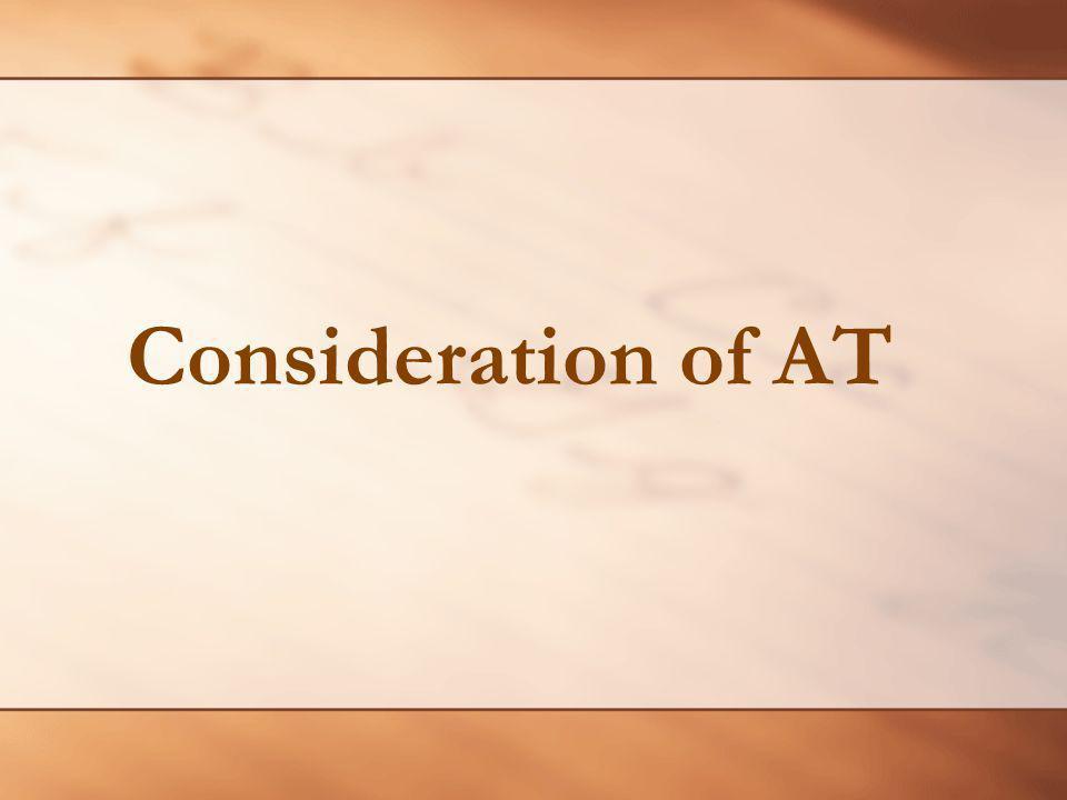 Consideration of AT