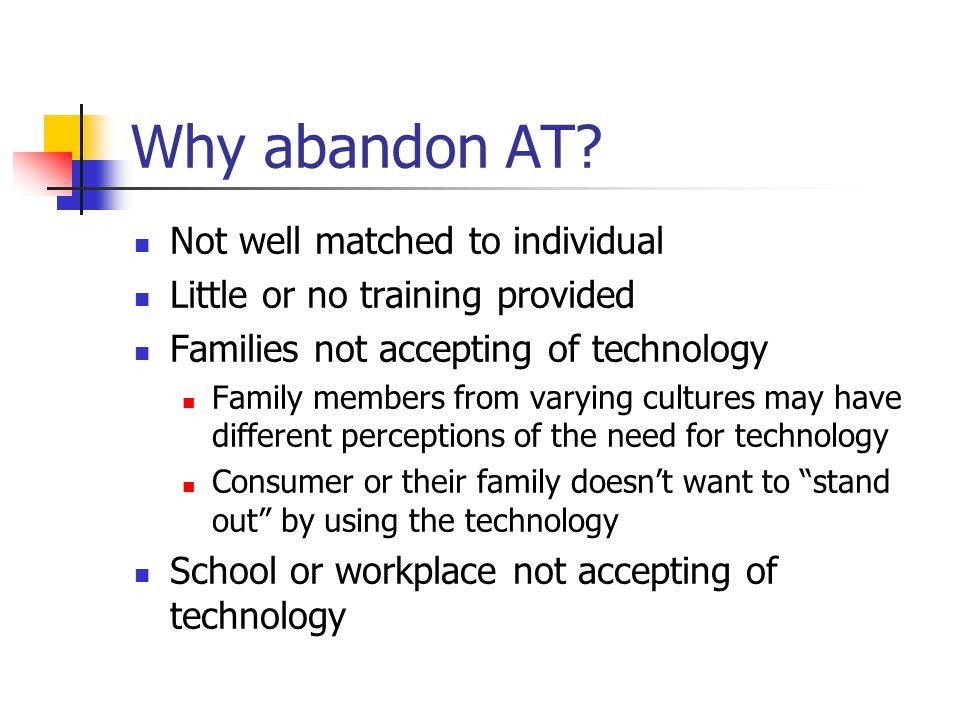 Why abandon AT.