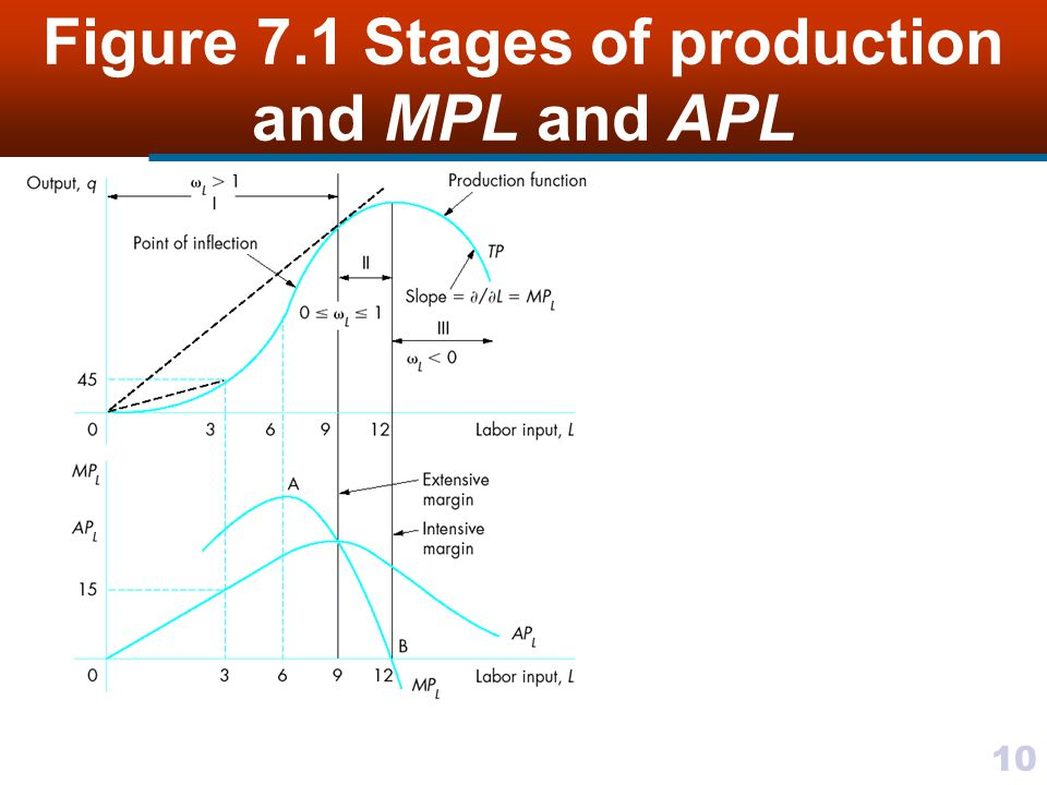10 Figure 7.1 Stages of production and MPL and APL