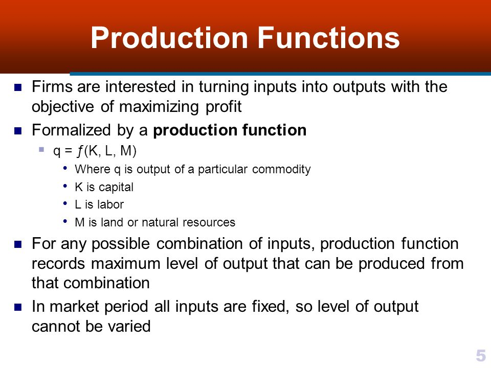 26 Two Variable Inputs Assumed a different combination of, say two, inputs will produce same level of output For example, in manufacturing microwave ovens, greater use of plastics may be substituted for a reduction in metal use Indifference curves represent a consumers preferences for different combinations of two goods with utility remaining constant In production theory isoquants represent different input combinations that may be used to produce a specified level of output Iso means equal and quant stands for quantity An isoquant is a locus of points representing same level of output or equal quantity For movements along an isoquant Level of output remains constant Input ratio changes continuously Isoquants are the same concept as indifference mapping Equal utility along same indifference curve replaced by equal output level along same isoquant Figure 7.5 represents a possible production function for two inputs