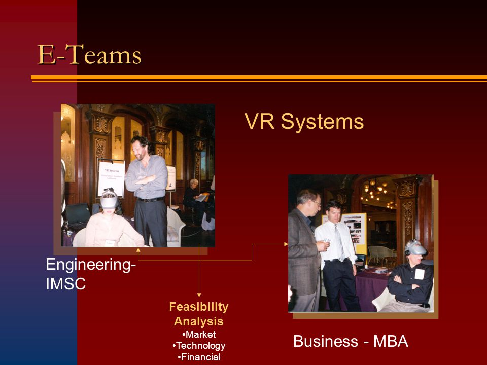 E-Teams VR Systems Engineering- IMSC Business - MBA Feasibility Analysis Market Technology Financial