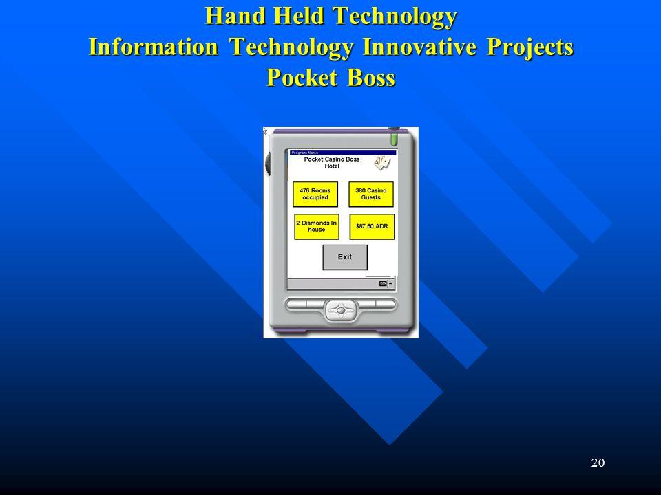 20 Hand Held Technology Information Technology Innovative Projects Pocket Boss