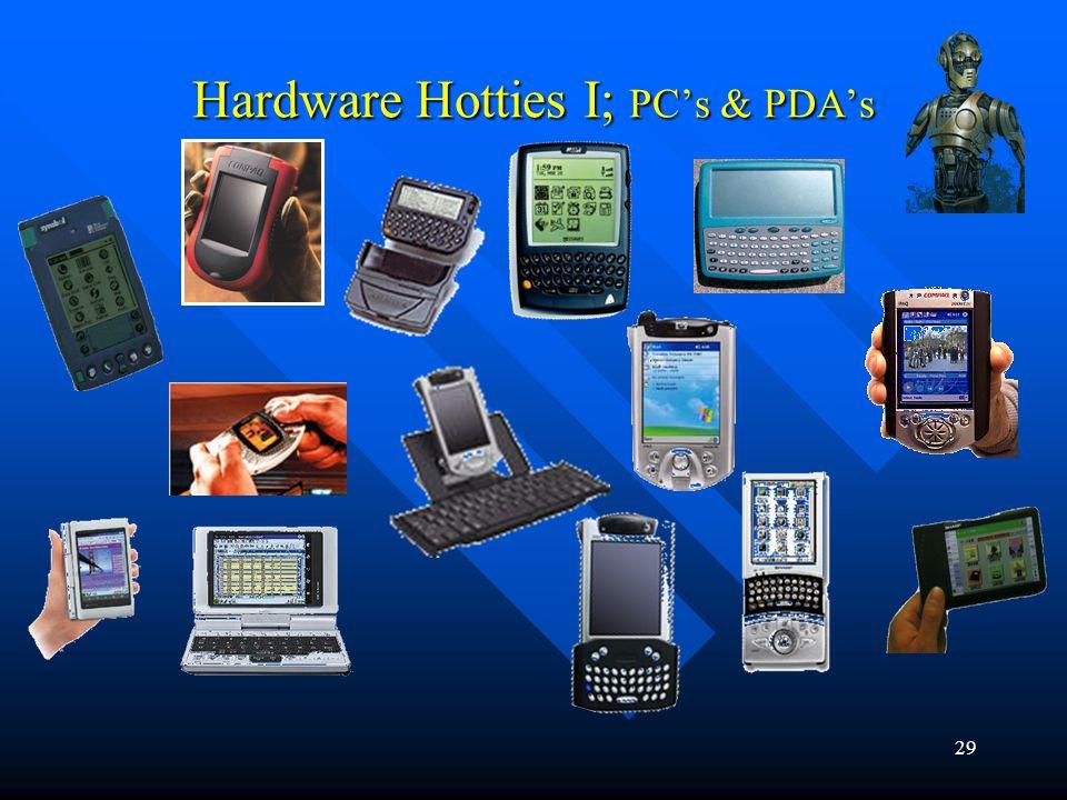 29 Hardware Hotties I; PCs & PDAs