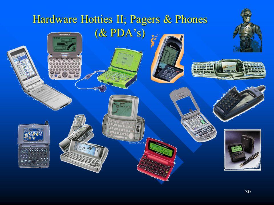 30 Hardware Hotties II; Pagers & Phones (& PDAs)