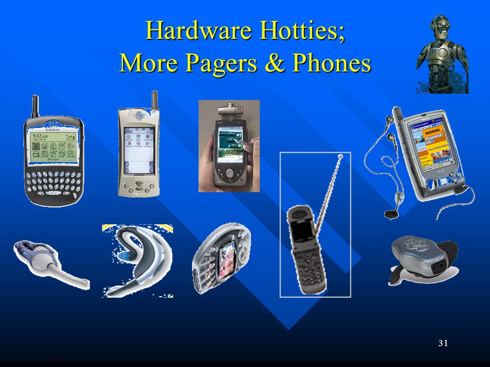 31 Hardware Hotties; More Pagers & Phones