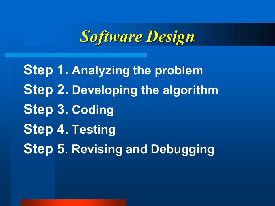 Types of Software Systems Software Acts as a visible interface between the machine and the user.