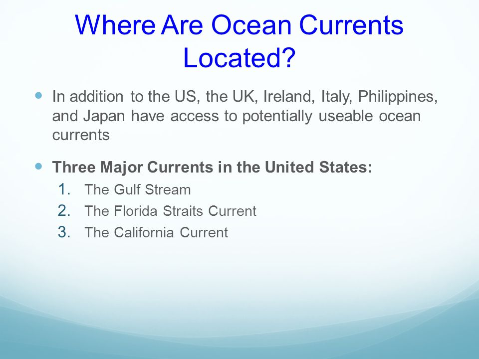 Where Are Ocean Currents Located.