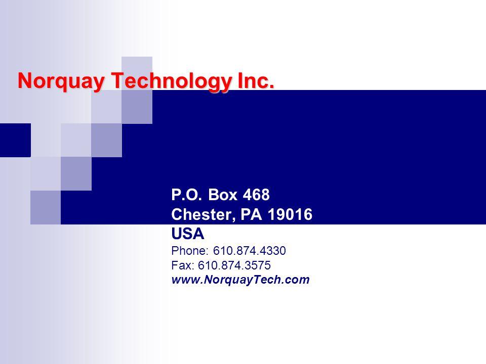 Norquay Technology Inc. P.O.