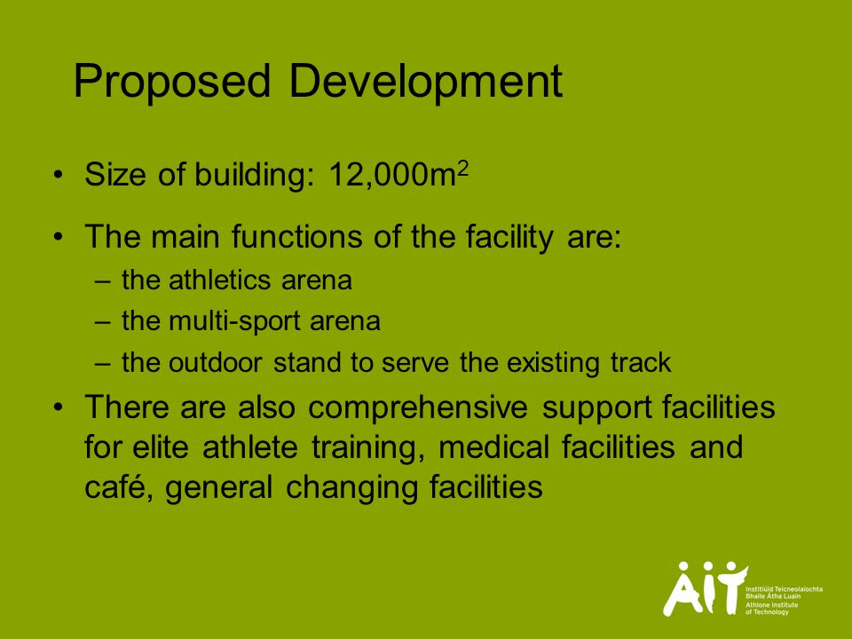Proposed Facilities