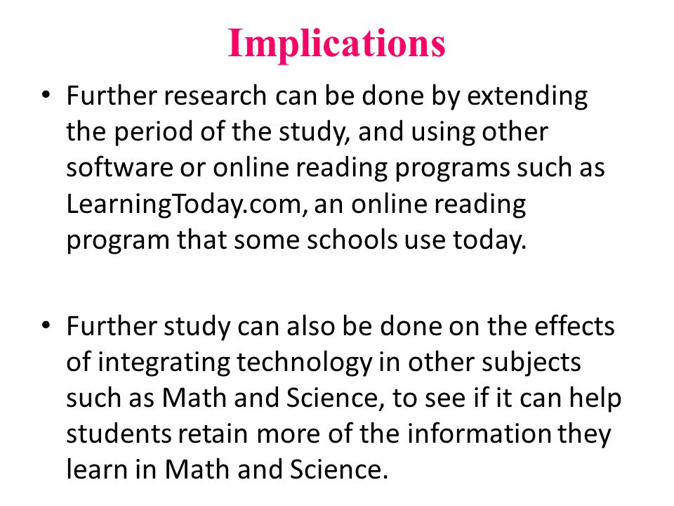 Discussion Results reflects a correlation between implementing technology in reading lessons and students reading levels in Mrs.