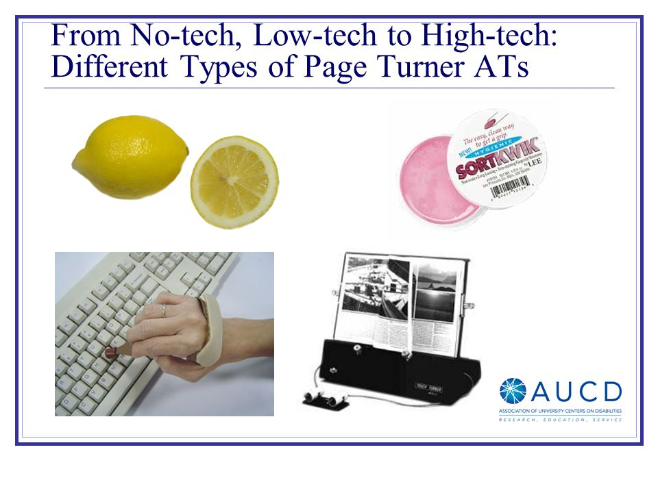 From No-tech, Low-tech to High-tech: Different Types of Page Turner ATs