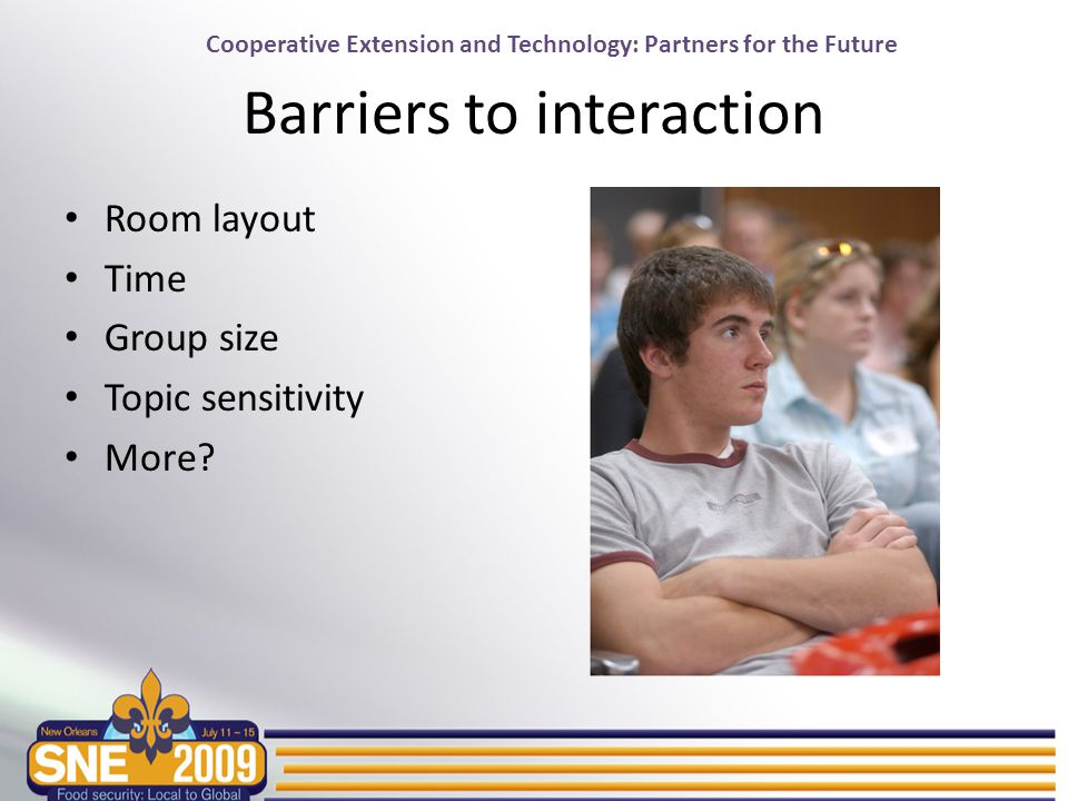Cooperative Extension and Technology: Partners for the Future Possible solution: Clickers