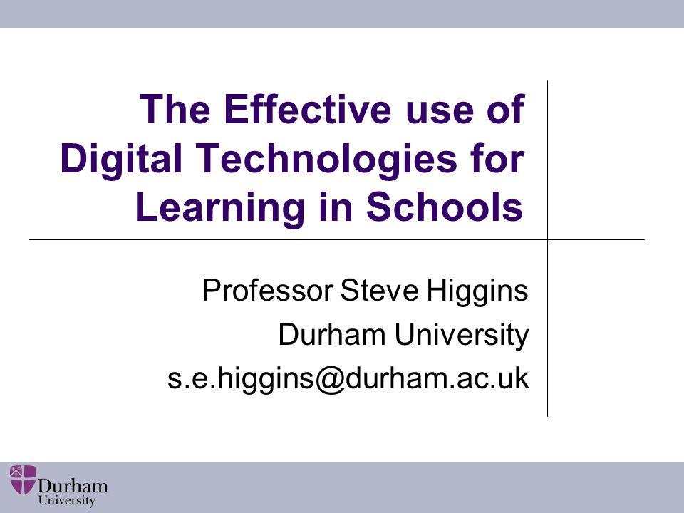 Findings from meta-analysis Computer and digital technology interventions Effect Waxman, Lin, Michko, 20030.45 Waxman et al., 20020.30 Tamim et al.