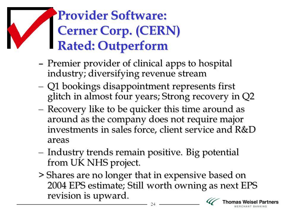 24 Provider Software: Cerner Corp.