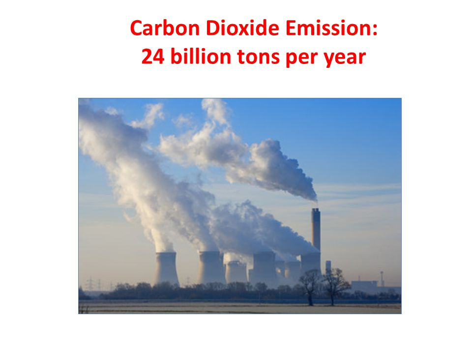 Carbon Dioxide Emission: 24 billion tons per year