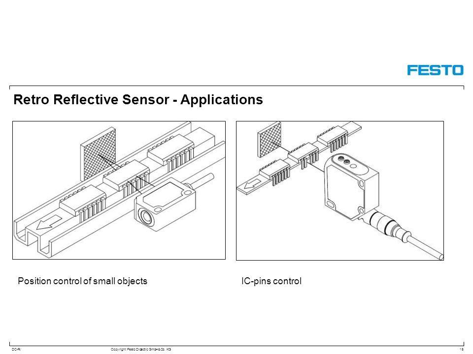 DC-R/Copyright Festo Didactic GmbH&Co. KG Retro Reflective Sensor - Applications 15 Position control of small objectsIC-pins control
