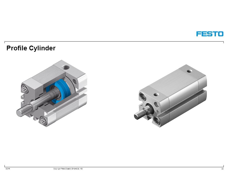 DC-R/Copyright Festo Didactic GmbH&Co. KG Profile Cylinder 22