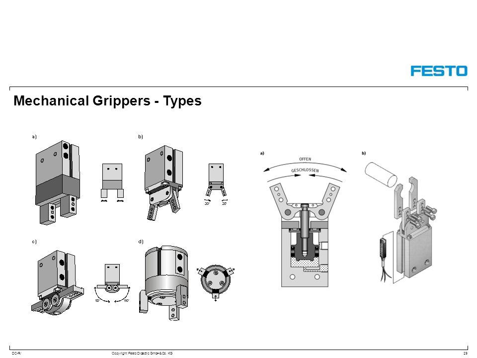 DC-R/Copyright Festo Didactic GmbH&Co. KG Mechanical Grippers - Types 29