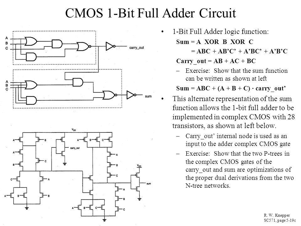 Full Adder Transistor Circuit
